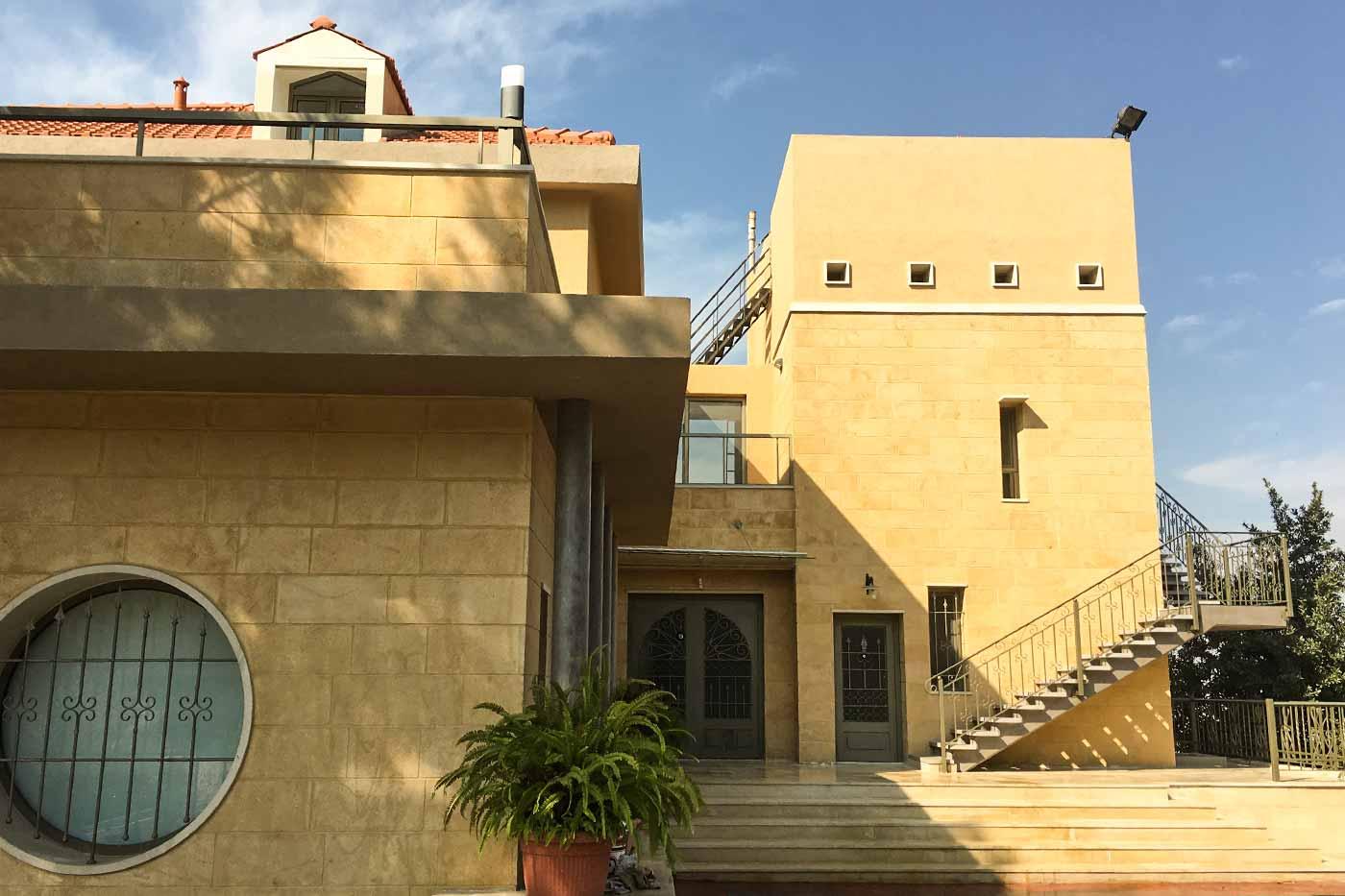 Hisham Merhi Villa Entrance with Steel Gate