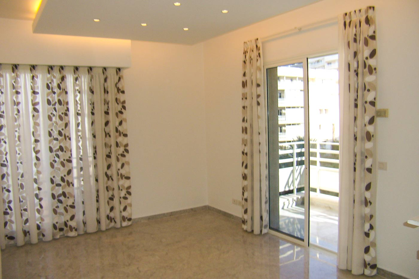 Jaber Residence - Balcony Door with Curtains