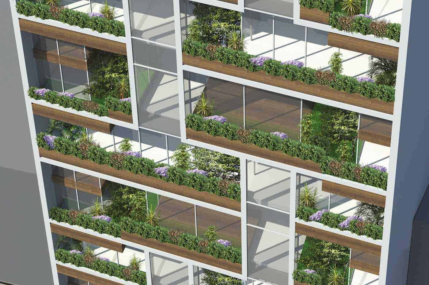 Loft 705 - Luxury Residential Building - Floors & Balconies