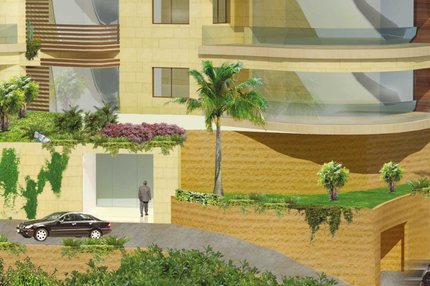 Mtayleb Luxury Residential Building - Entrance