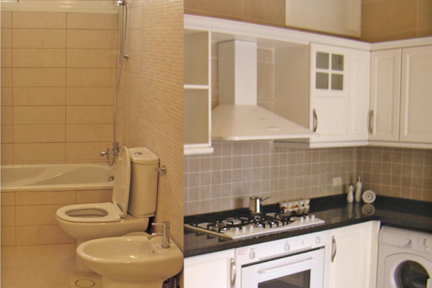 Sankari Residence - Kitchen to the Right & Toilet to Left