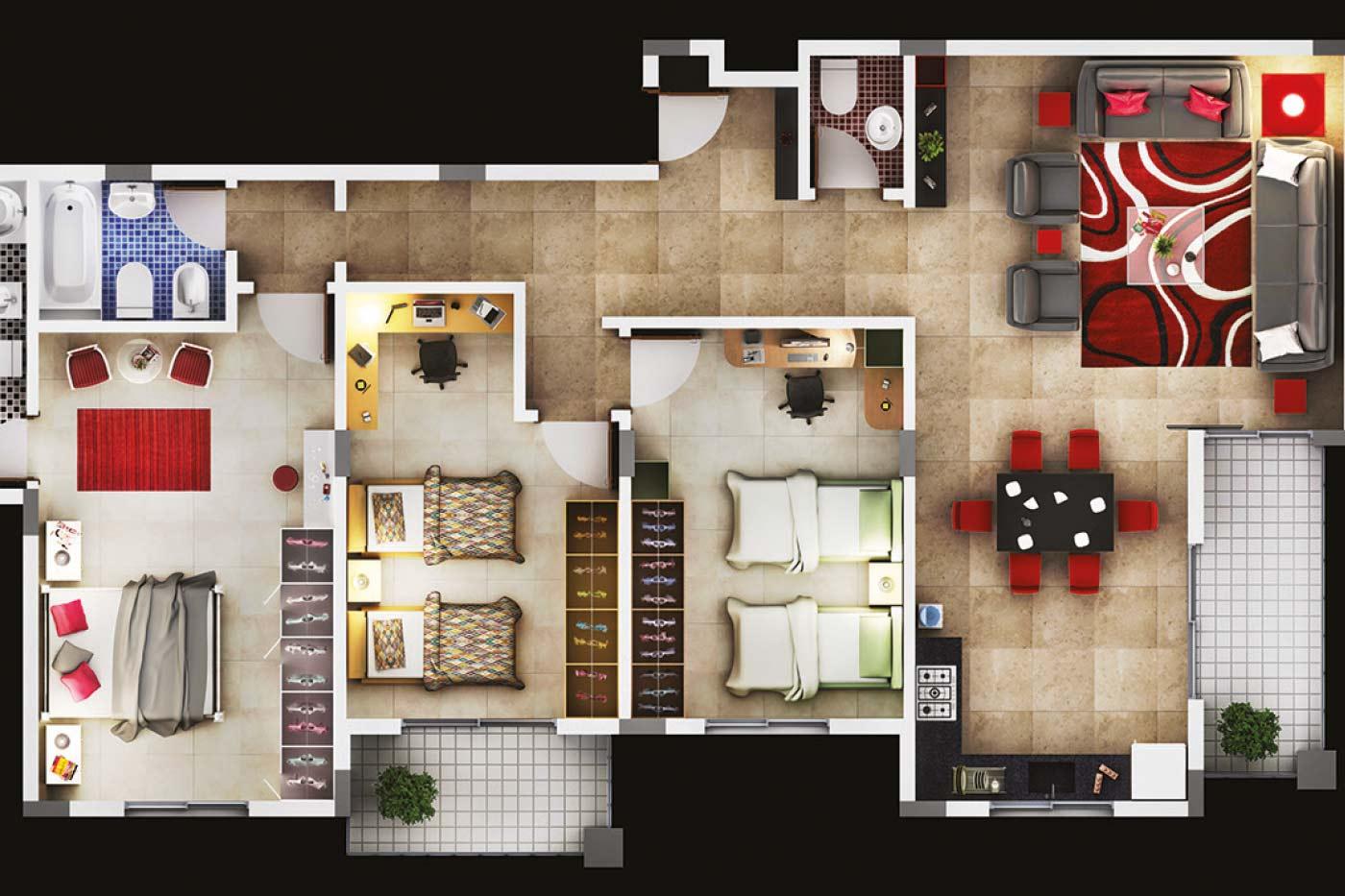 Villa Florina - Luxury Residential Building Map